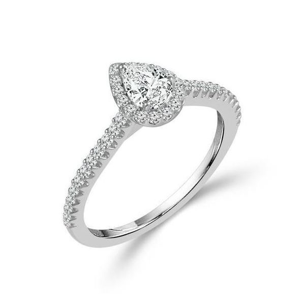 Pear Shape Halo Engagement Ring Kiefer Jewelers Lutz, FL