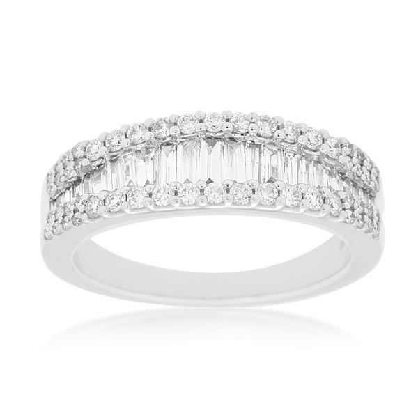 14 Karat White Gold Diamond Wedding Band Kiefer Jewelers Lutz, FL
