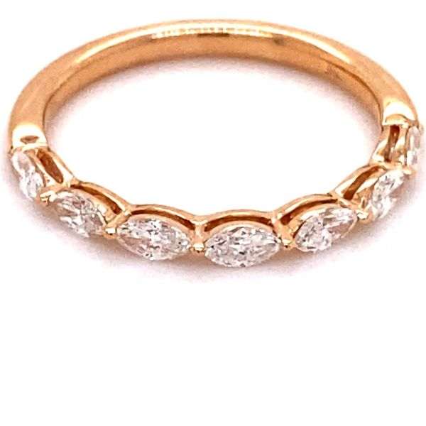 18K Rose Gold Marquise Diamond Band Image 2 Kiefer Jewelers Lutz, FL