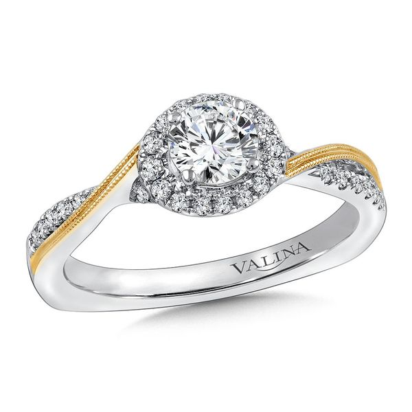 Two Tone .18ctw Engagement Ring Mounting Kiefer Jewelers Lutz, FL
