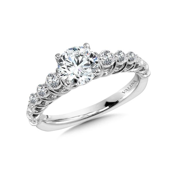 Ripple Effect Diamond Engagement Ring Mounting Kiefer Jewelers Lutz, FL