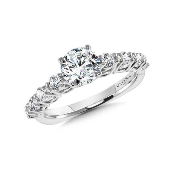 Cathedral Diamond Engagement Ring Mounting Kiefer Jewelers Lutz, FL