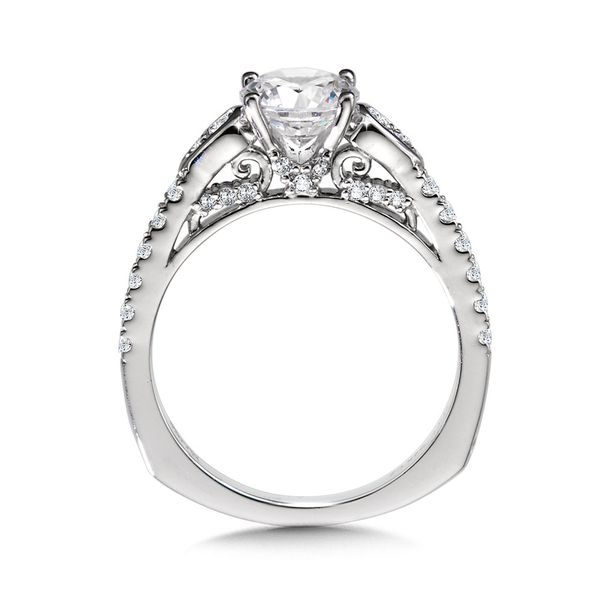 Winged Diamond Engagement Ring Mounting Kiefer Jewelers Lutz, FL