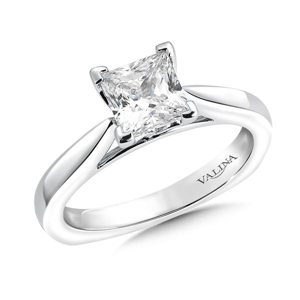 14KW Princess Cut Engagement Ring Mounting Kiefer Jewelers Lutz, FL