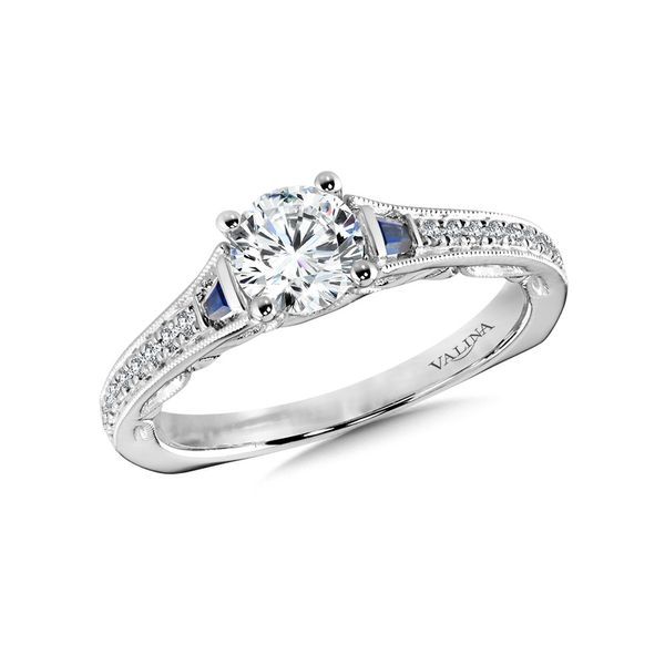 14K Diamond & Sapphire Engagement Ring Setting Kiefer Jewelers Lutz, FL