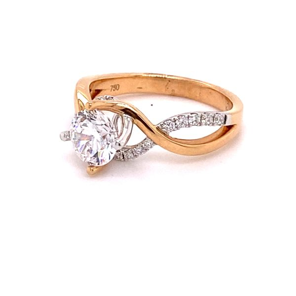 18K Two-Tone By Pass Semi Mount Engagement Ring Image 2 Kiefer Jewelers Lutz, FL