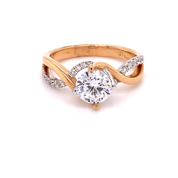 18K Two-Tone By Pass Semi Mount Engagement Ring Kiefer Jewelers Lutz, FL