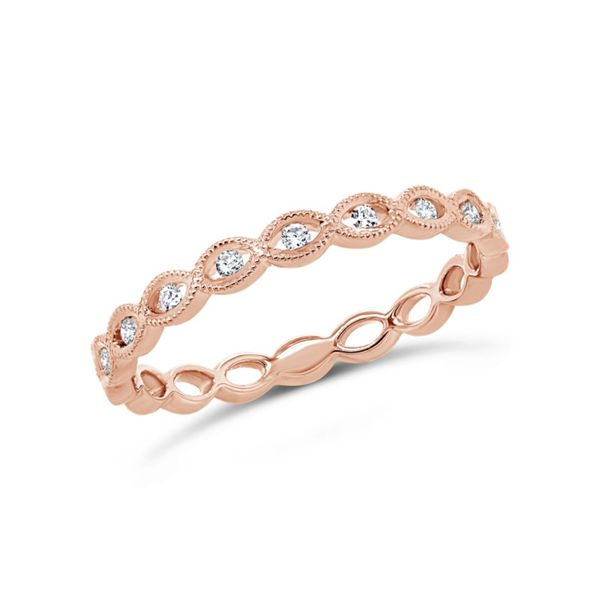 Rose Gold Diamond Stackable Ring Kiefer Jewelers Lutz, FL