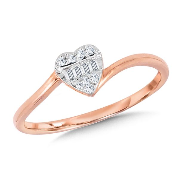 Rose Gold Diamond Heart Ring Kiefer Jewelers Lutz, FL