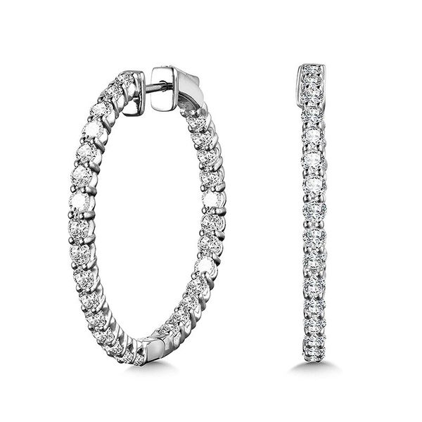 14K LG Diamond Hoops Kiefer Jewelers Lutz, FL