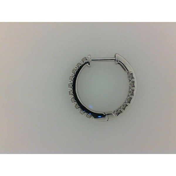 3/4ctw Inside Out Diamond Hoops Image 3 Kiefer Jewelers Lutz, FL