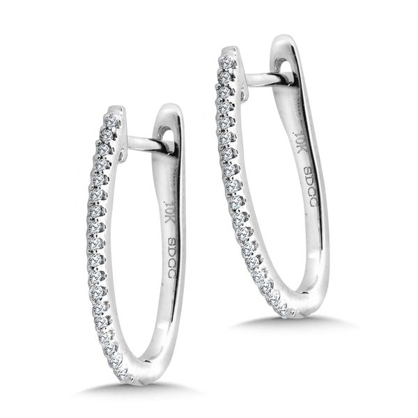 14KW .10ctw Diamond Hoop Earrings Kiefer Jewelers Lutz, FL