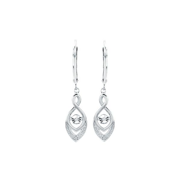 Sterling Silver Shimmering Diamond Drop Earrings Kiefer Jewelers Lutz, FL