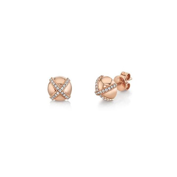 Rose Gold Diamond Earrings Kiefer Jewelers Lutz, FL