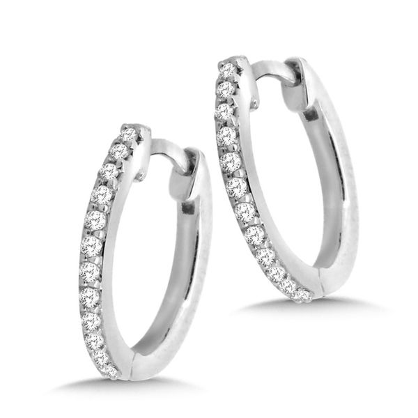 14KW .10ctw Diamond Huggie Earrings Kiefer Jewelers Lutz, FL