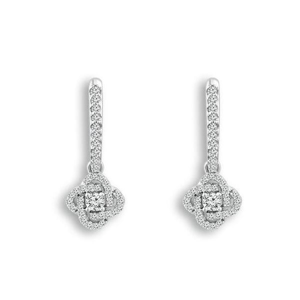 Large Diamond Knot Earrings Kiefer Jewelers Lutz, FL