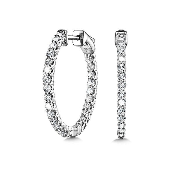 14K Small Diamond Hoops Kiefer Jewelers Lutz, FL