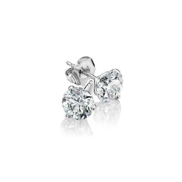 14KW 1/5CTW 3 Prong diamond stud earrings Kiefer Jewelers Lutz, FL