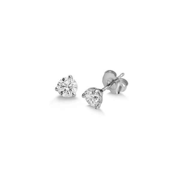 14KW .75CTW 3 Prong diamond stud earrings Kiefer Jewelers Lutz, FL