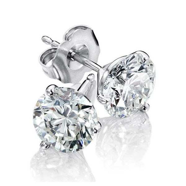 14KW 1/2CTW Color: G-H, Clarity:SI2 3 Prong diamond stud earrings Kiefer Jewelers Lutz, FL