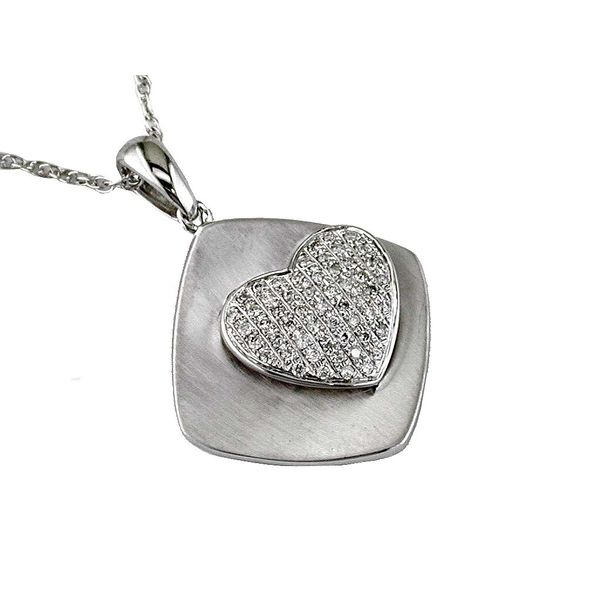 14K Diamond Pave' Heart Necklace Kiefer Jewelers Lutz, FL