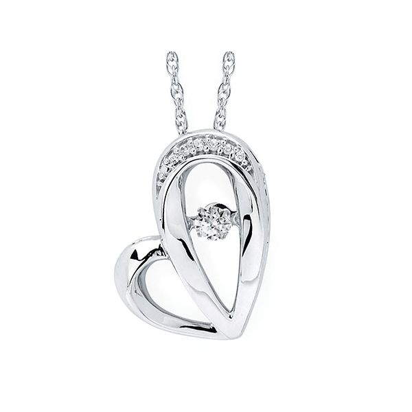Sterling Silver Shimmering Heart Necklace Kiefer Jewelers Lutz, FL
