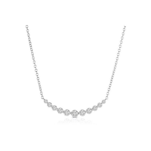 1ctw Diamond Curved Necklace Kiefer Jewelers Lutz, FL