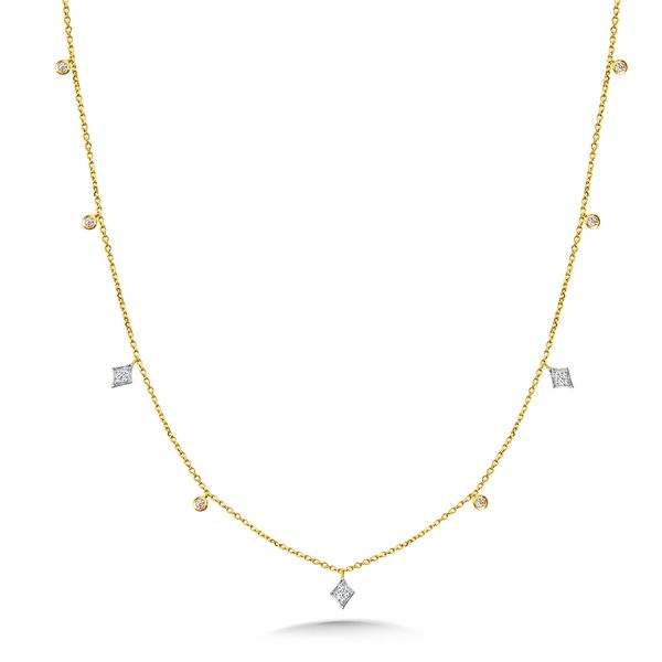 14KY Diamond Dangles Necklace Kiefer Jewelers Lutz, FL