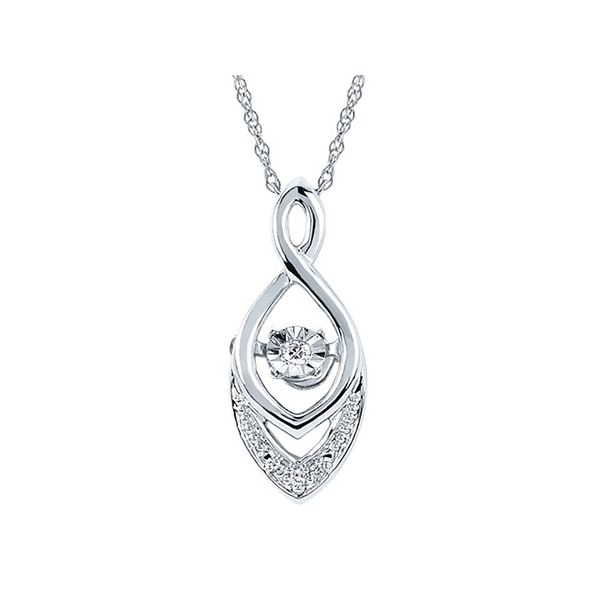 Sterling Silver Shimmering Diamond Chevron Necklace Kiefer Jewelers Lutz, FL