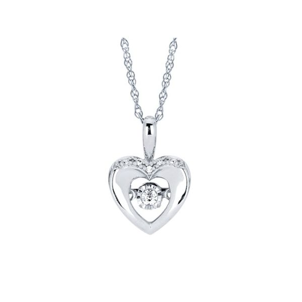 Shimmering Heart Necklace Kiefer Jewelers Lutz, FL