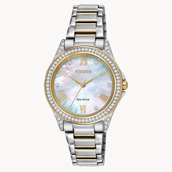 Citizen Mother of Pearl & Crystal Watch Kiefer Jewelers Lutz, FL