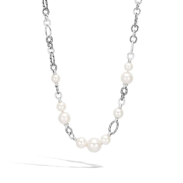 John Hardy Classic Chain Link Necklace with Freshwater Pearl Kiefer Jewelers Lutz, FL