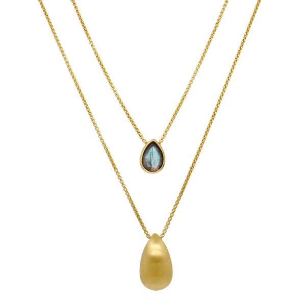 Dean Davidson Labradorite Teardrop Necklace Kiefer Jewelers Lutz, FL