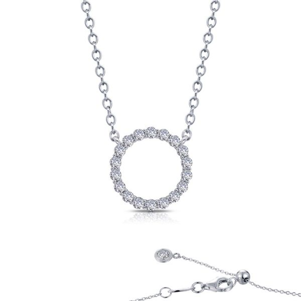 Lafonn Sterling Silver and CZ Open Circle Necklace Kiefer Jewelers Lutz, FL
