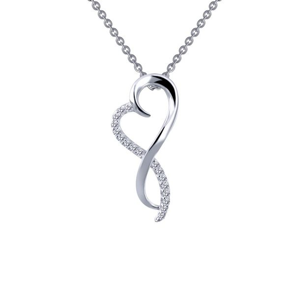 Lafonn Sterling Silver and CZ Infinity Heart Necklace Kiefer Jewelers Lutz, FL
