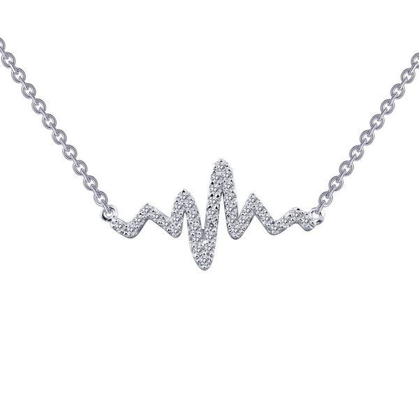 Lafonn Heartbeat Necklace Kiefer Jewelers Lutz, FL