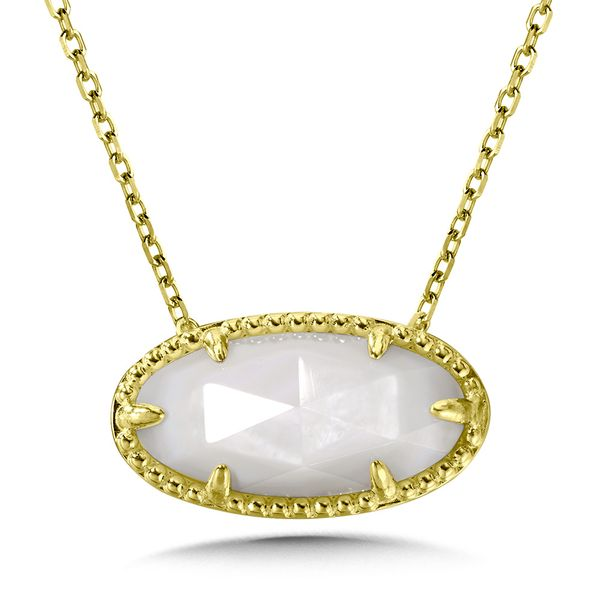 SS/YGP Yellow Moon Stone Necklace Kiefer Jewelers Lutz, FL
