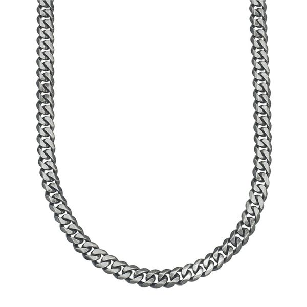 Men's Sterling Silver Curb Chain Kiefer Jewelers Lutz, FL