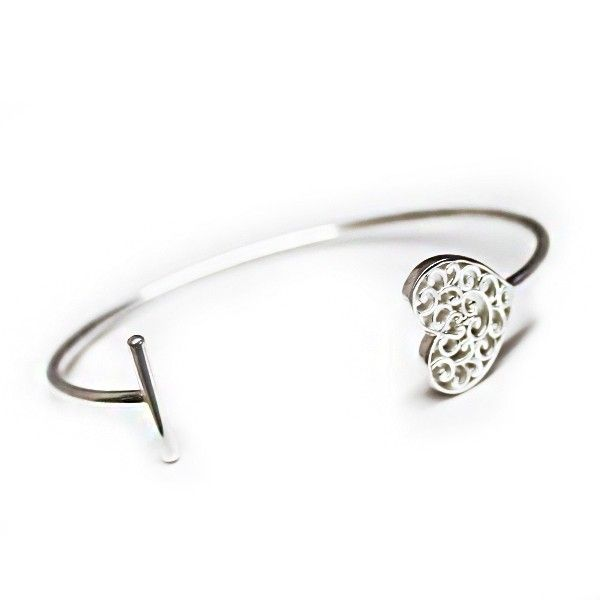 Souther Gates Everlasting Heart Cuff Kiefer Jewelers Lutz, FL