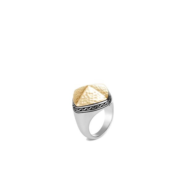 Classic Chain Hammered Sugarloaf Ring Kiefer Jewelers Lutz, FL