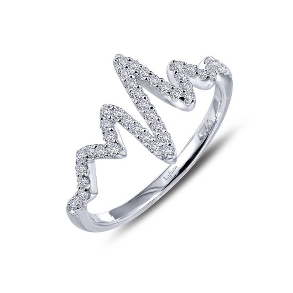 Lafonn Sterling Silver and CZ Heartbeat Ring Kiefer Jewelers Lutz, FL