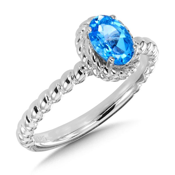 Sterling Silver Blue Topaz Ring Kiefer Jewelers Lutz, FL