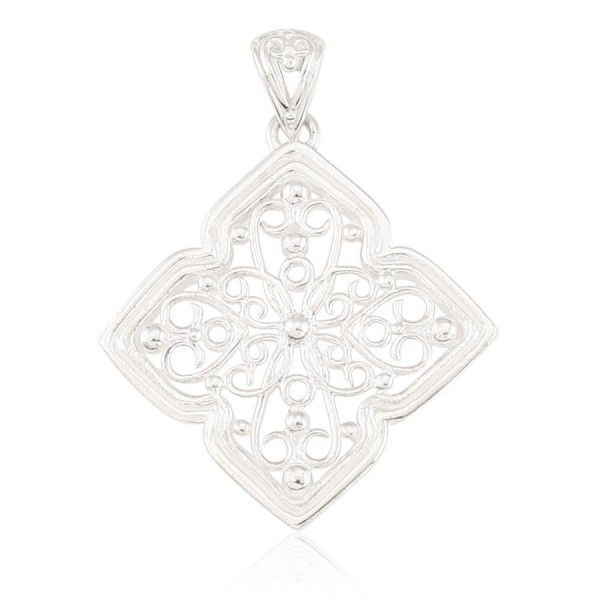 Sterling Silver Four Petal Scroll Pendant Kiefer Jewelers Lutz, FL