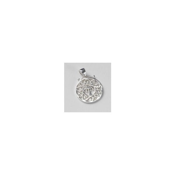 Sterling Silver Palmetto Tree & Scroll Pendant Kiefer Jewelers Lutz, FL