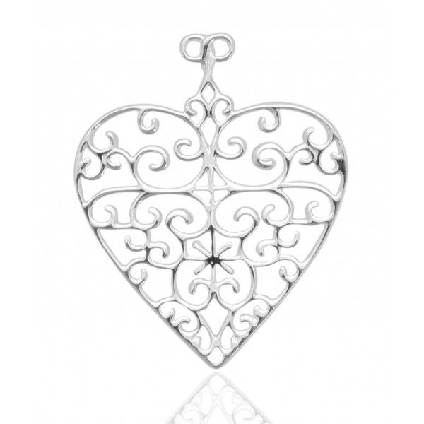 Sterling Silver Flat Heart Pendant Kiefer Jewelers Lutz, FL