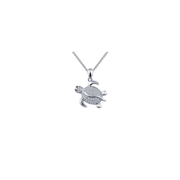 Sterling Silver Simulated Diamond Turtle Necklace Kiefer Jewelers Lutz, FL