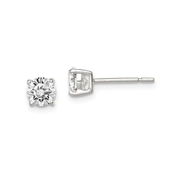 Silver 5mm CZ Stud Earrings Kiefer Jewelers Lutz, FL