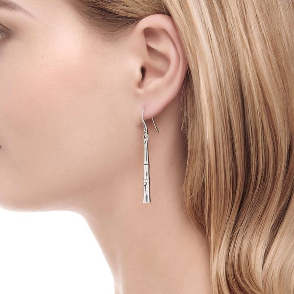 John Hardy Linear Drop Earrings Image 2 Kiefer Jewelers Lutz, FL