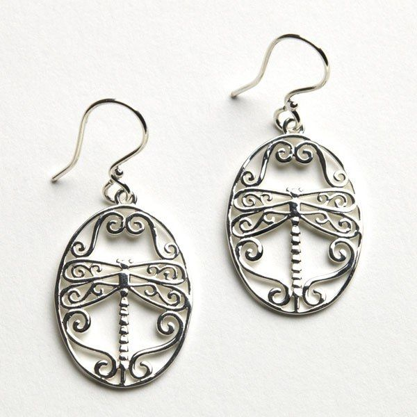 Sterling Silver Dragonfly Earrings Kiefer Jewelers Lutz, FL