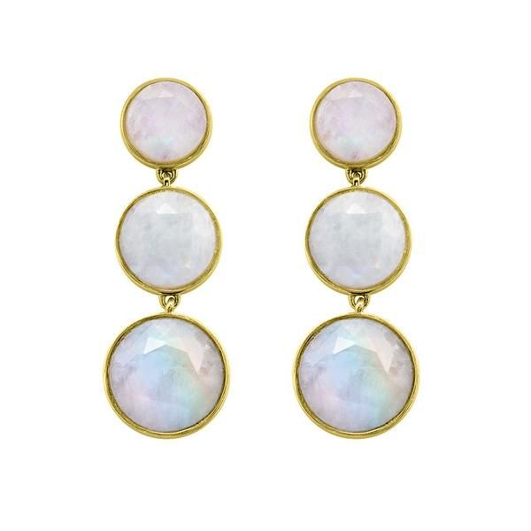 Moonstone Mesh Iconic Triple Earrings Kiefer Jewelers Lutz, FL